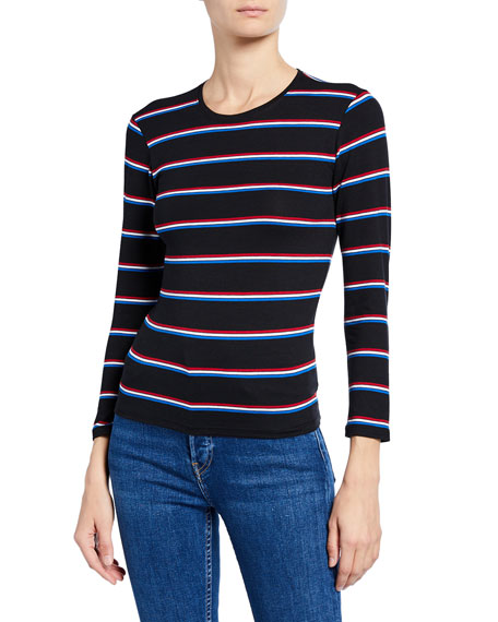 Striped Jersey Long-Sleeve Tee