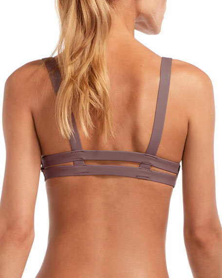 Neutra Double-Banded Bikini Top, Galet