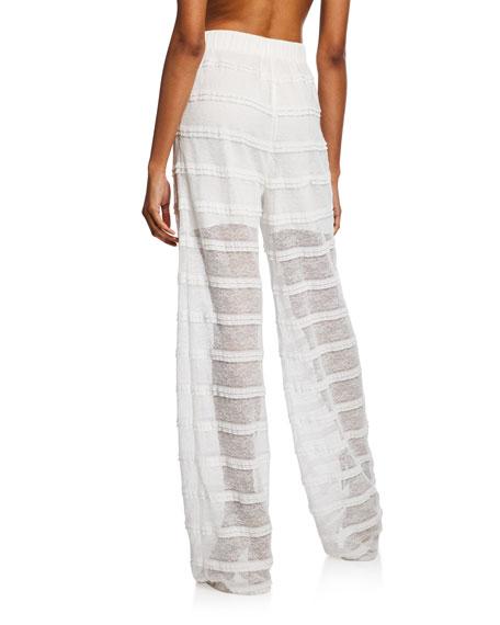 Lace Combo Ruffle Pants