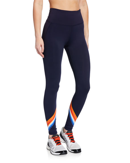 Image 1 of 1: High-Rise Tempo Chevron 7/8 Leggings