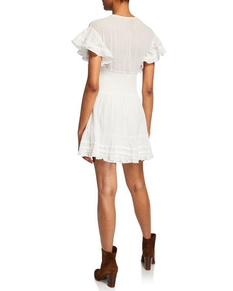 Mapple Smocked Ruffle Short Dress