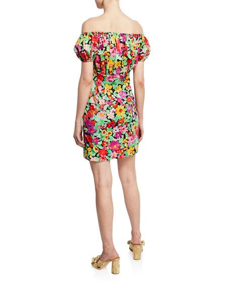 Calla Floral-Print Off-the-Shoulder Mini Dress