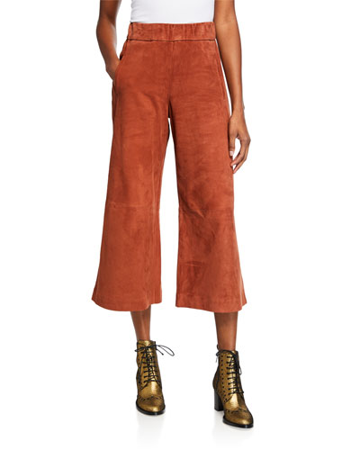 Stretch Suede Culottes