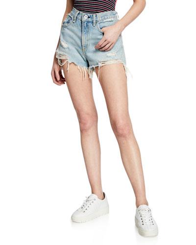 Maya High-Rise Denim Shorts