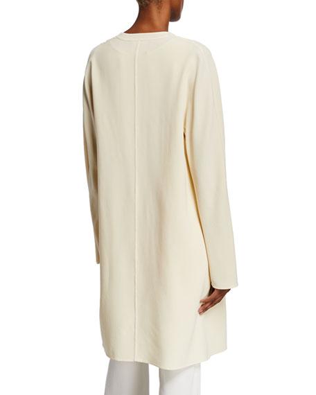 Rishima Open-Front Double-Face Wool Topper Jacket