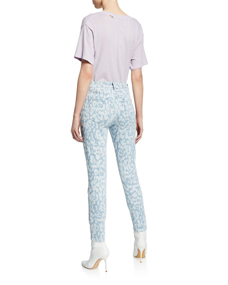 The High Waist Stiletto Leopard Ankle Jeans