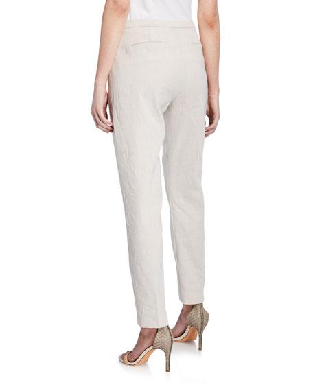 Marcia Linen Straight-Leg Pants
