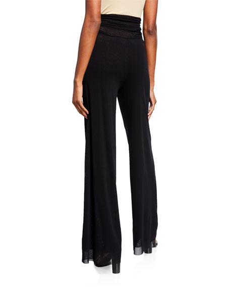 Ruched Tulle Palazzo Pants
