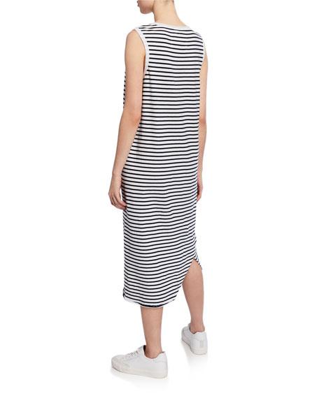 Striped Asymmetric Midi Tank Dress