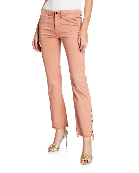 Image 1 of 1: Gisela Straight-Leg Ankle Pants w/ Side Vents