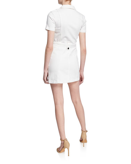 Gorgeous Zip-Front Short-Sleeve Mini Dress