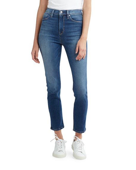 Image 1 of 1: Holly High-Rise Crop Skinny Jeans