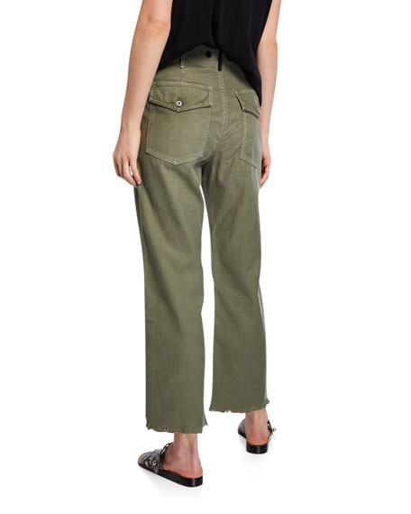 Kaye Cropped Wide-Leg Chino Pants