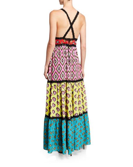 AO x CARLA Karolina Paneled Maxi Dress