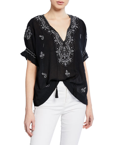 Image 1 of 1: The Mercantile Embroidered Top