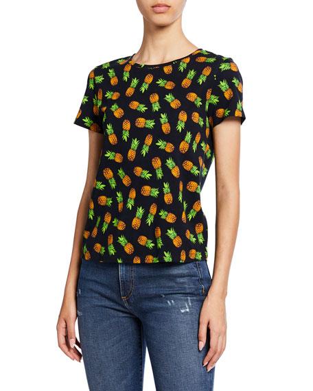 Rylyn Pineapple-Printed Crewneck Short-Sleeve Tee