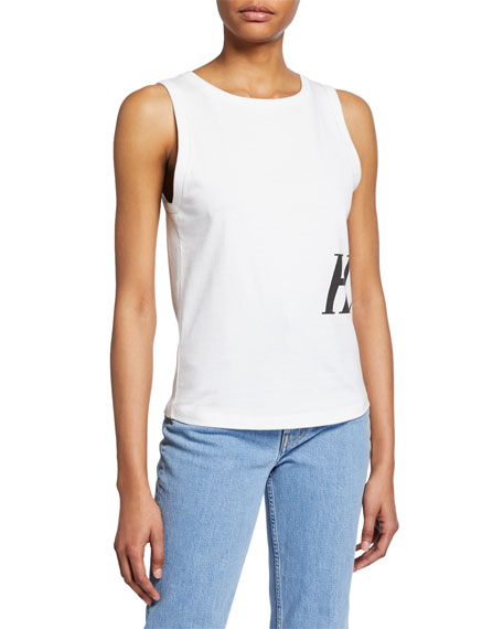 Image 1 of 1: Femme Side-Graphic Muscle Tank