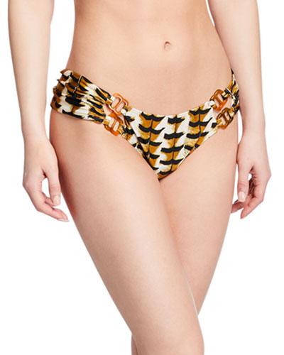 Animal-Print Hipster Bikini Bottom
