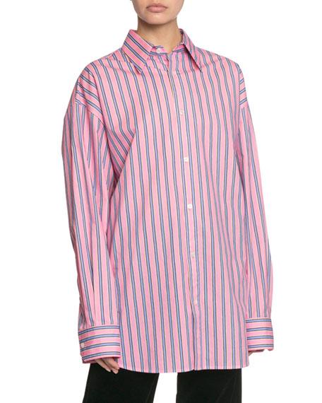 The Men's Striped Button-Down Cotton Shirt