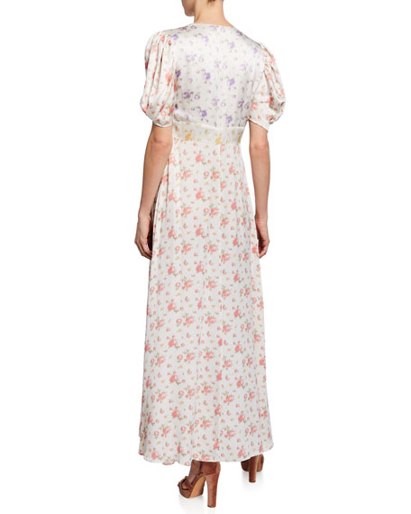 Stacy Silk Button-Front Maxi Dress