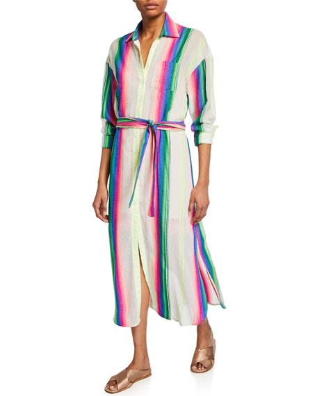 Striped Girlfriend Dress with Slip