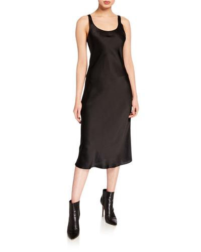 Charlie Silk Slip Midi Dress