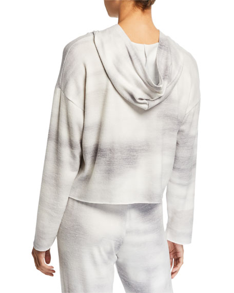 Weekend Tie-Dye Crop Hoodie Sweatshirt