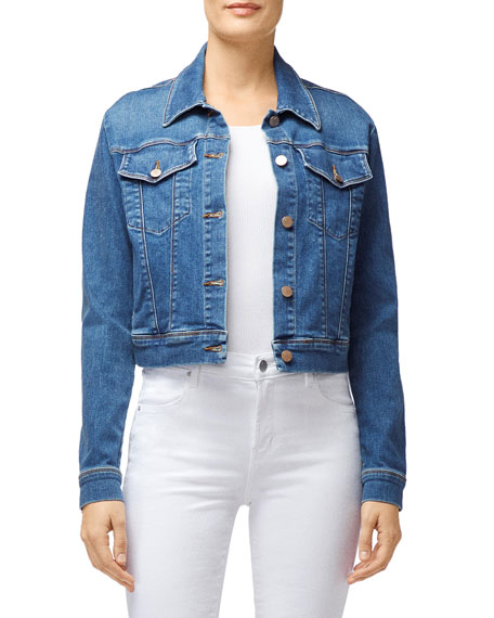 J Brand Jackets HARLOW SHRUNKEN DENIM JACKET