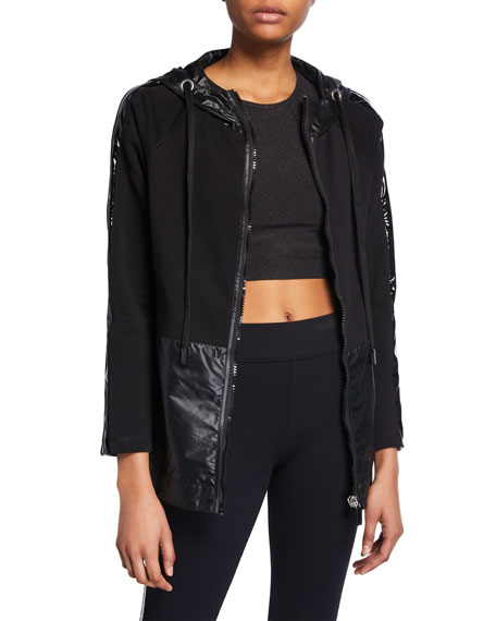 Image 1 of 1: Niho Hooded Zip-Front Jacket