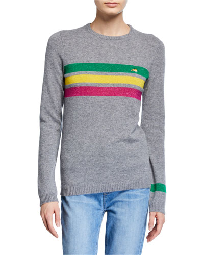 Daytona Sparkle Stripe Crewneck Sweater
