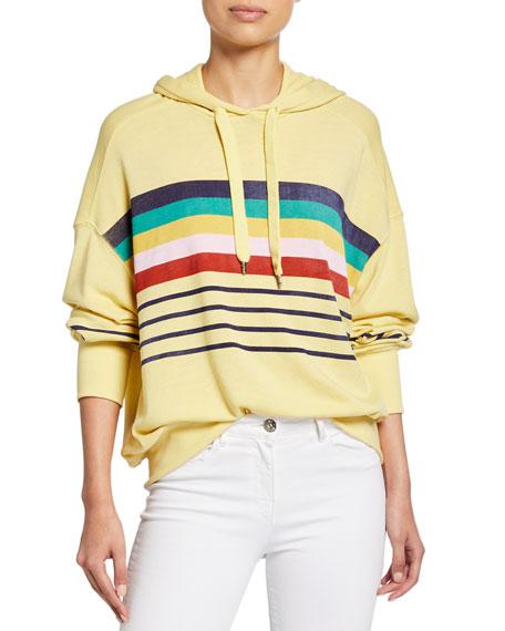 Rainbow Stripe Hoodie Sweatshirt