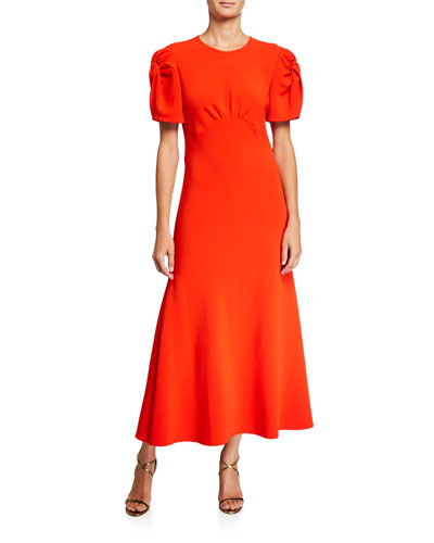 Its Up to You Knotted-Sleeve Dress