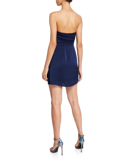Genesis Strapless Draped Mini Dress