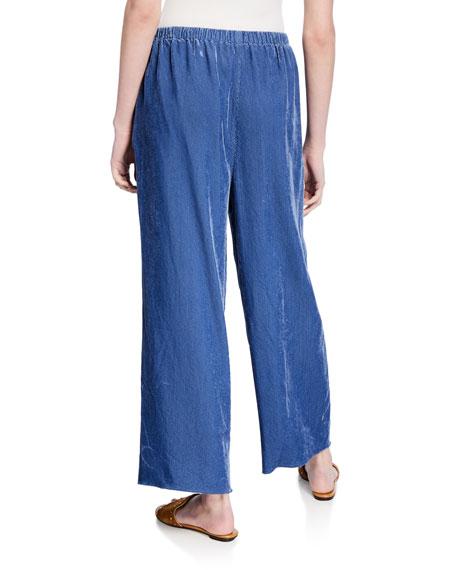 Fluid Ribbed Velvet Pants