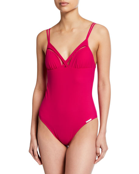 Image 1 of 1: Elegance à Bord Non-Wire One-Piece Swimsuit