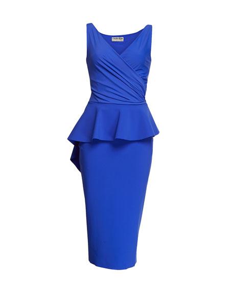 Nelinka Sleeveless Peplum Cocktail Dress