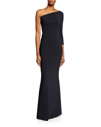 Hedval One-Sleeve Column Gown