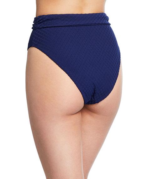 Goldie High-Waist Tie-Front High-Leg Bikini Bottom