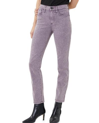 Stevie High-Rise Straight-Leg Jeans