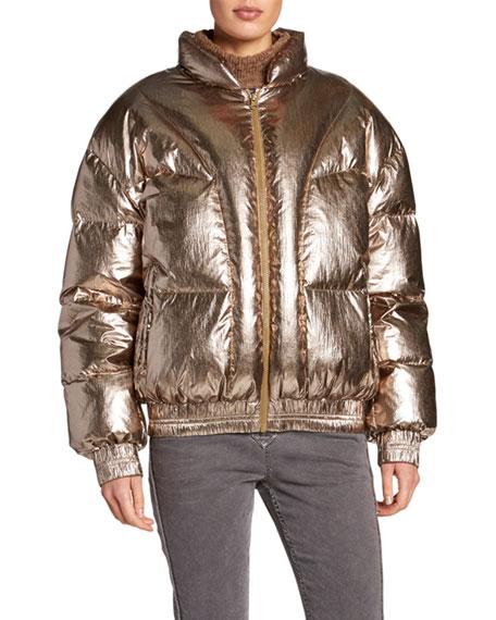 Kristen Metallic Puffer Jacket