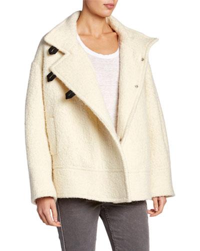 Fagan Button-Front Alpaca Coat