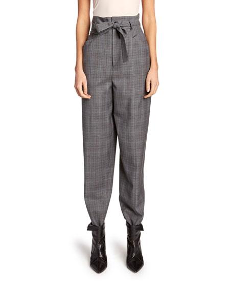 Vittoria High-Rise Check Wool Pants