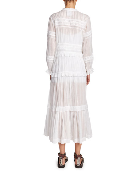 Likoya Tiered Cotton Long-Sleeve Dress