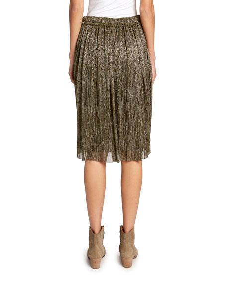 Beatrice Metallic Midi Skirt