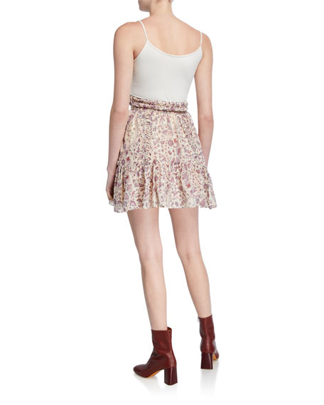 Laraya Printed Flounce Skirt