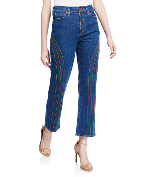 Amazing High-Rise Straight-Leg Jeans