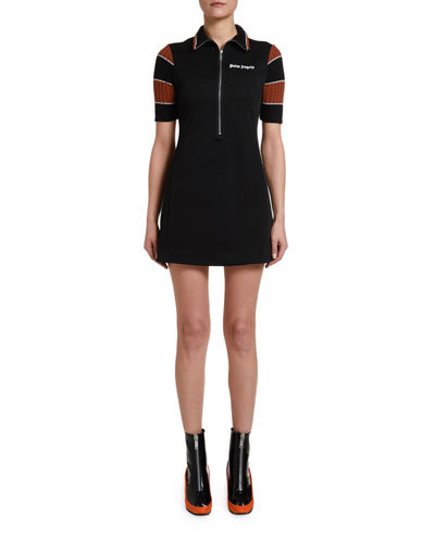 70s Zip-Front Mini Dress