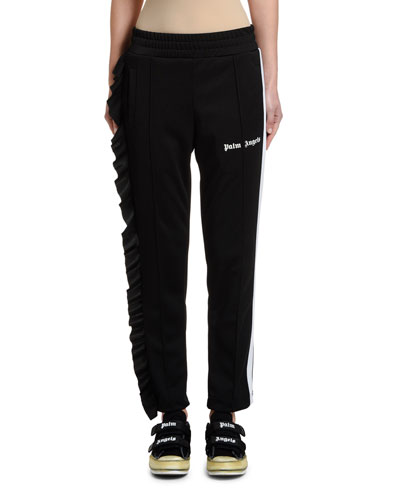 Ruffled Side-Stripe Track Pants