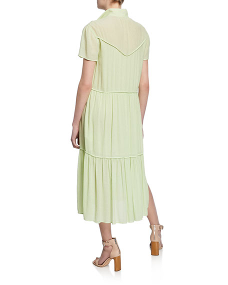 Libby Tiered Seam Crinkle Dress