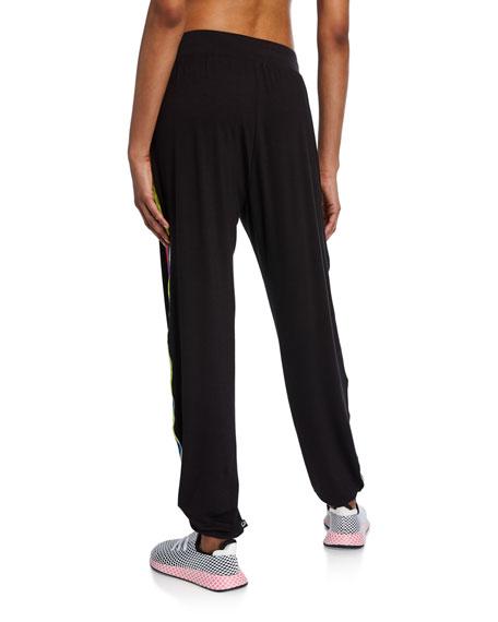 Blackbright Ribbon Side-Stripe Jogger Pants